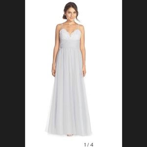 Amsale Tulle and Lace Gown